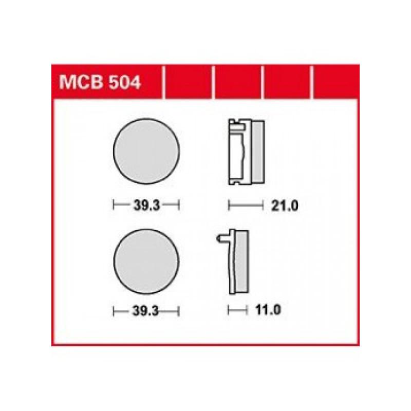 Мото накладки TRW MCB504