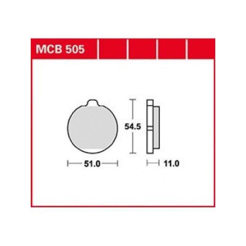 Мото накладки TRW MCB505 thumb