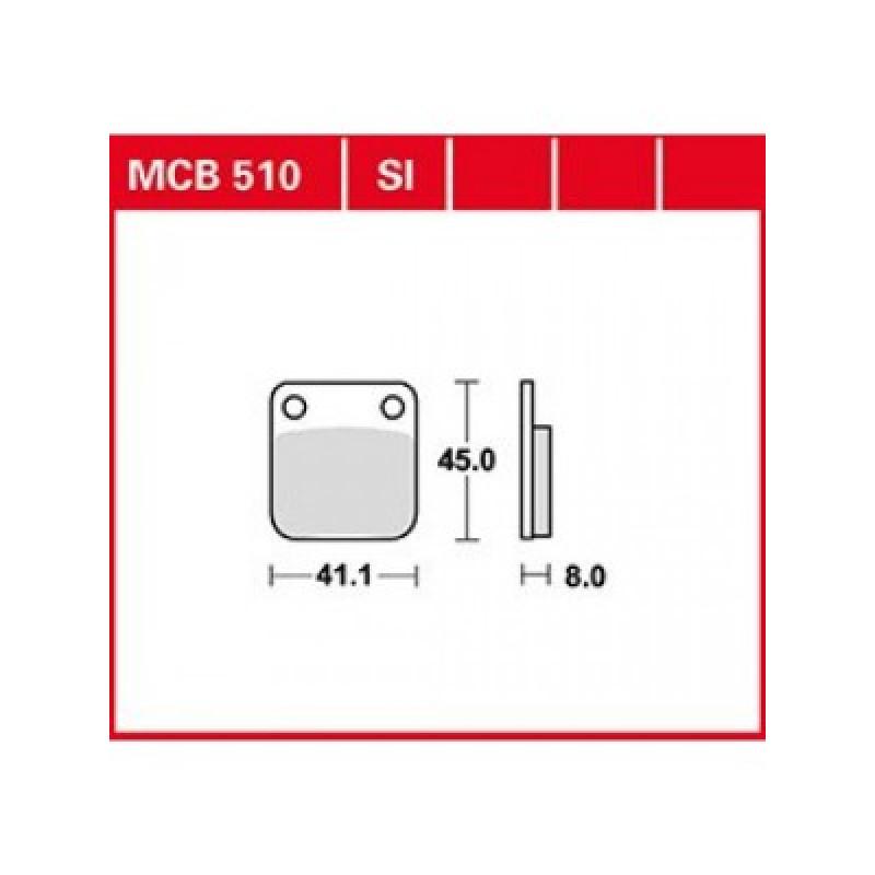 Мото накладки TRW MCB510SI