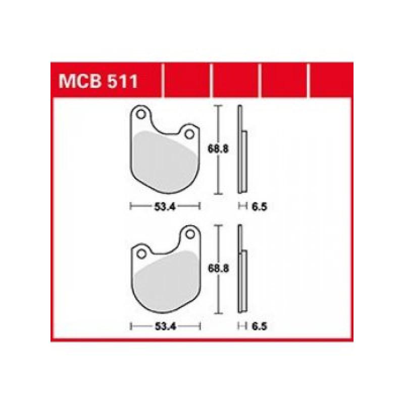 Мото накладки TRW MCB511 thumb