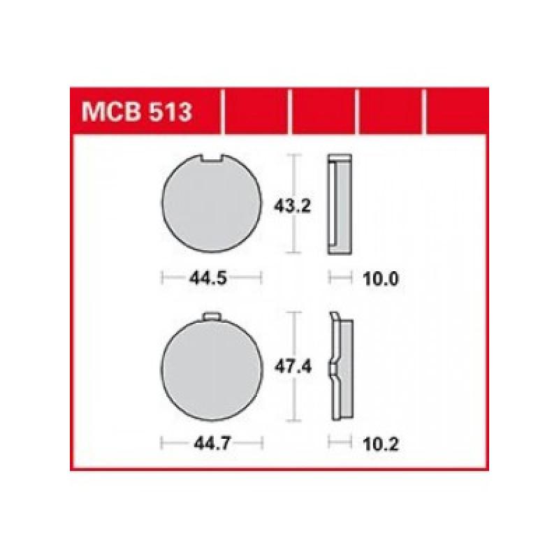 Мото накладки TRW MCB513 thumb
