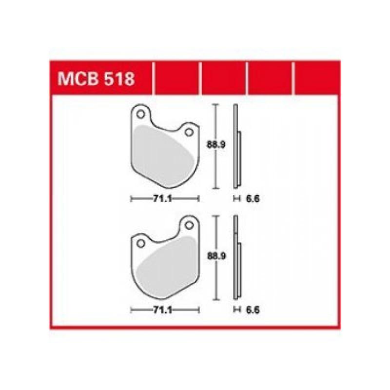 Мото накладки TRW MCB518