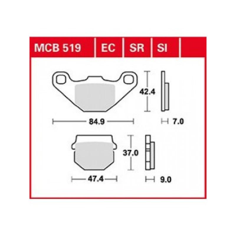 Мото накладки TRW MCB519EC thumb