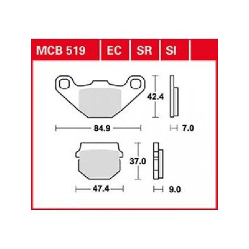 Мото накладки TRW MCB519SI