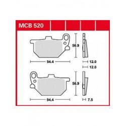 Мото накладки TRW MCB520