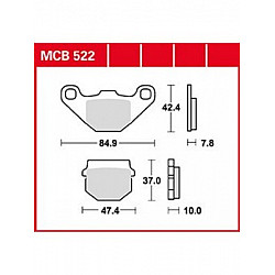 Мото накладки TRW MCB522