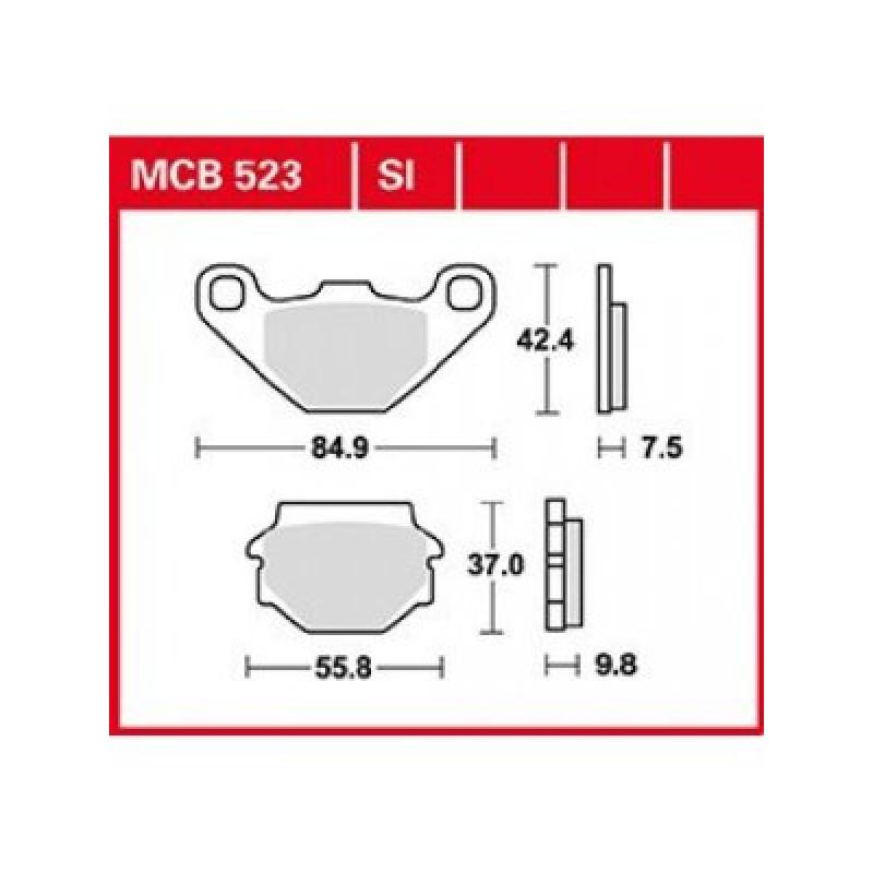 Мото накладки TRW MCB523SI thumb