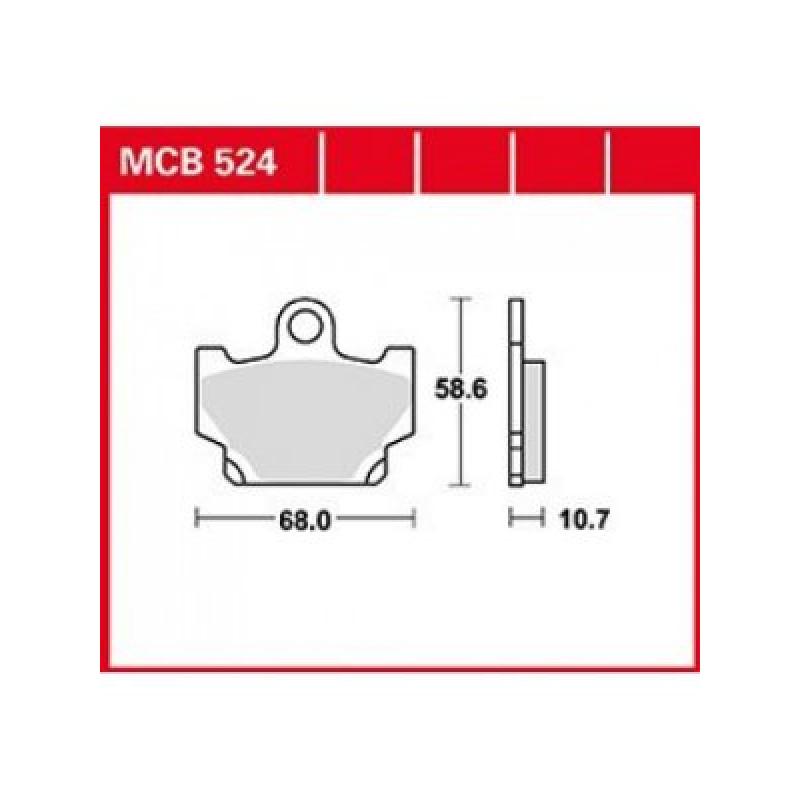 Мото накладки TRW MCB524 thumb
