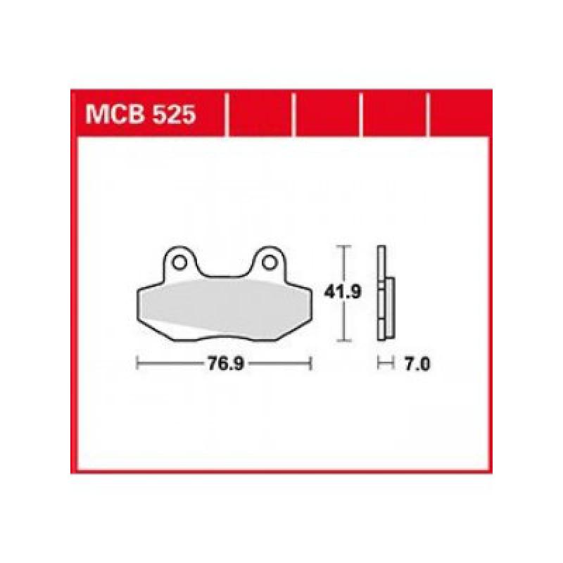 Мото накладки TRW MCB525 thumb