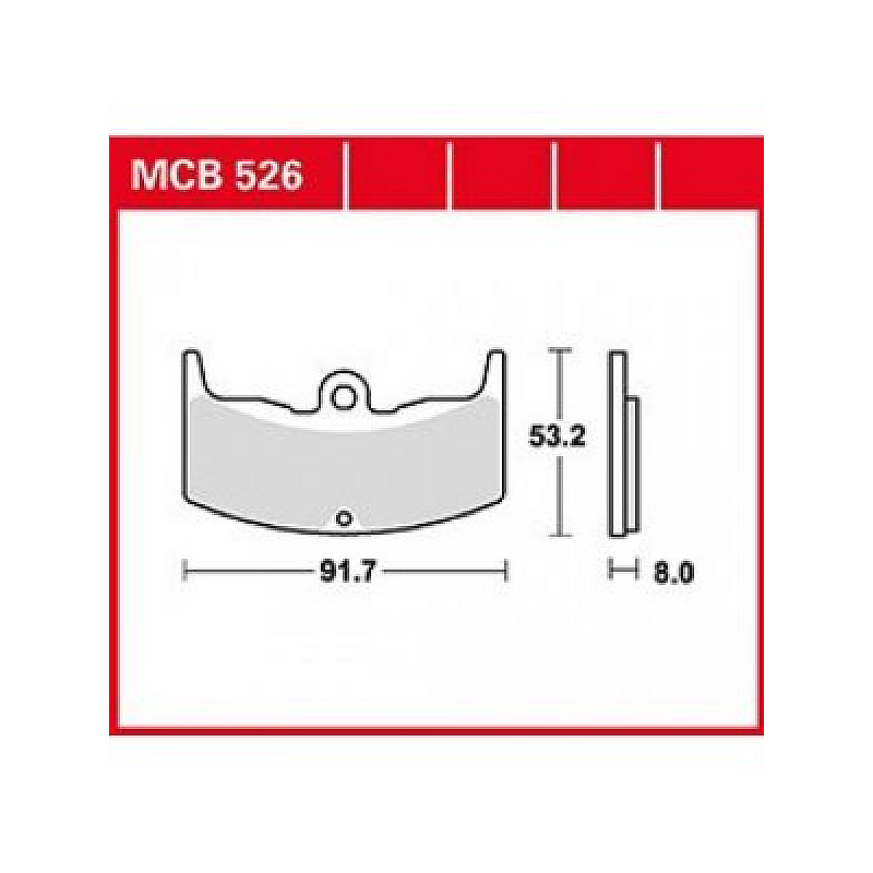 Мото накладки TRW MCB526 thumb