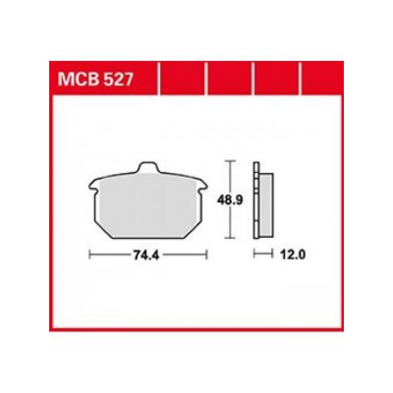 Мото накладки TRW MCB527 thumb