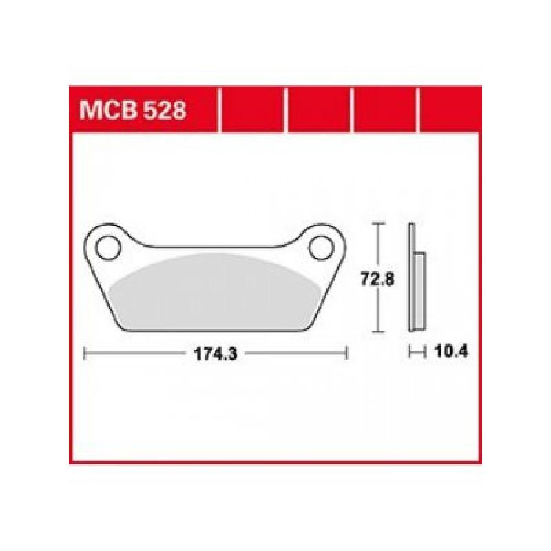 Мото накладки TRW MCB528 thumb