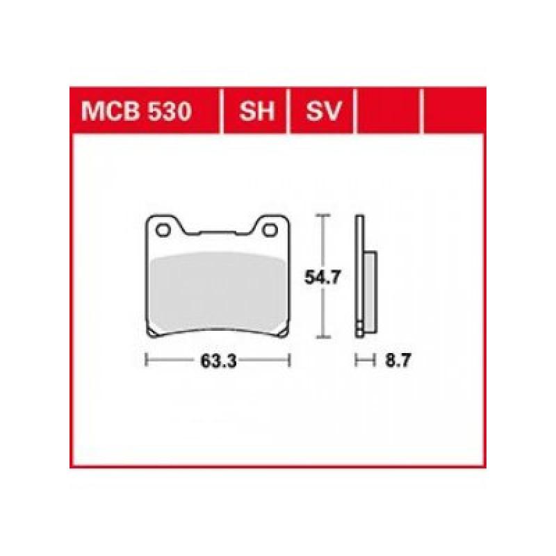 Мото накладки TRW MCB530SV thumb