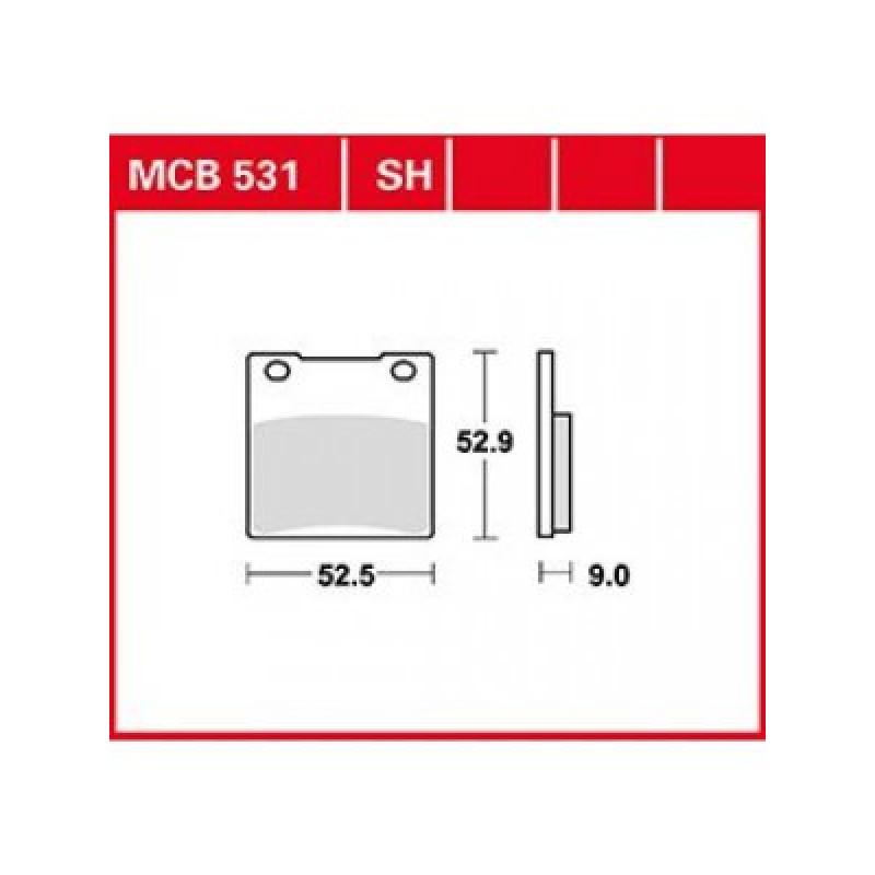 Мото накладки TRW MCB531 thumb