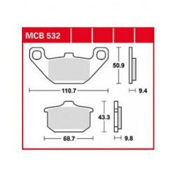 Мото накладки TRW MCB532