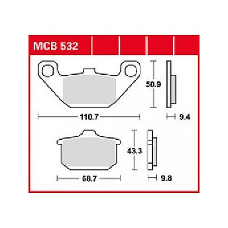 Мото накладки TRW MCB532 thumb