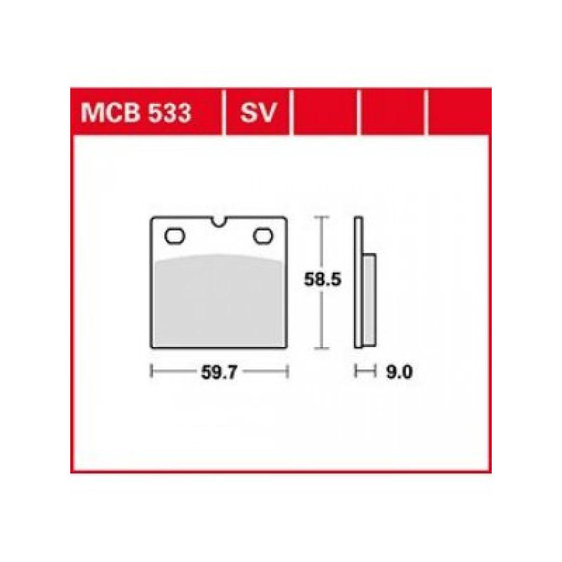 Мото накладки TRW MCB533SV thumb