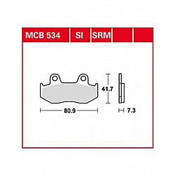 Мото накладки TRW MCB534
