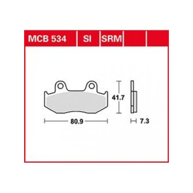 Мото накладки TRW MCB534SI thumb