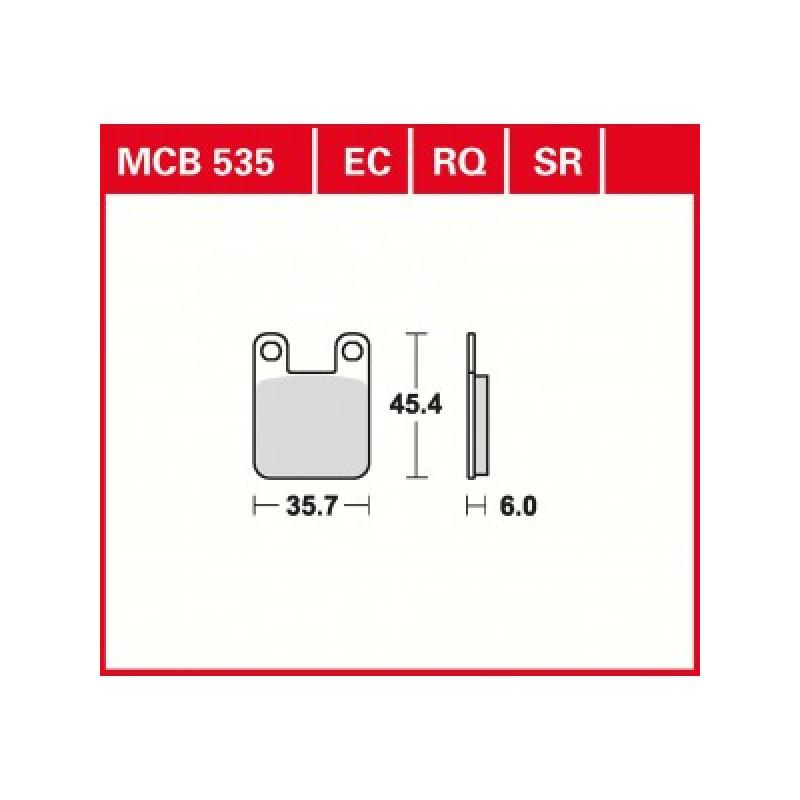 Мото накладки TRW MCB535EC thumb