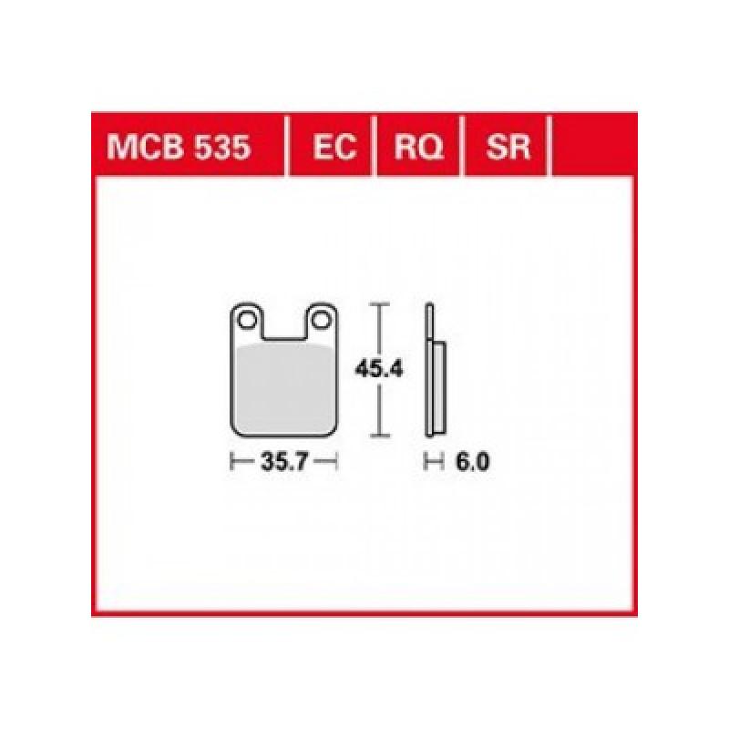 Мото накладки TRW MCB535SR thumb