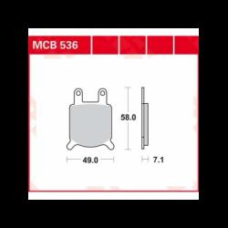 Мото накладки TRW MCB536