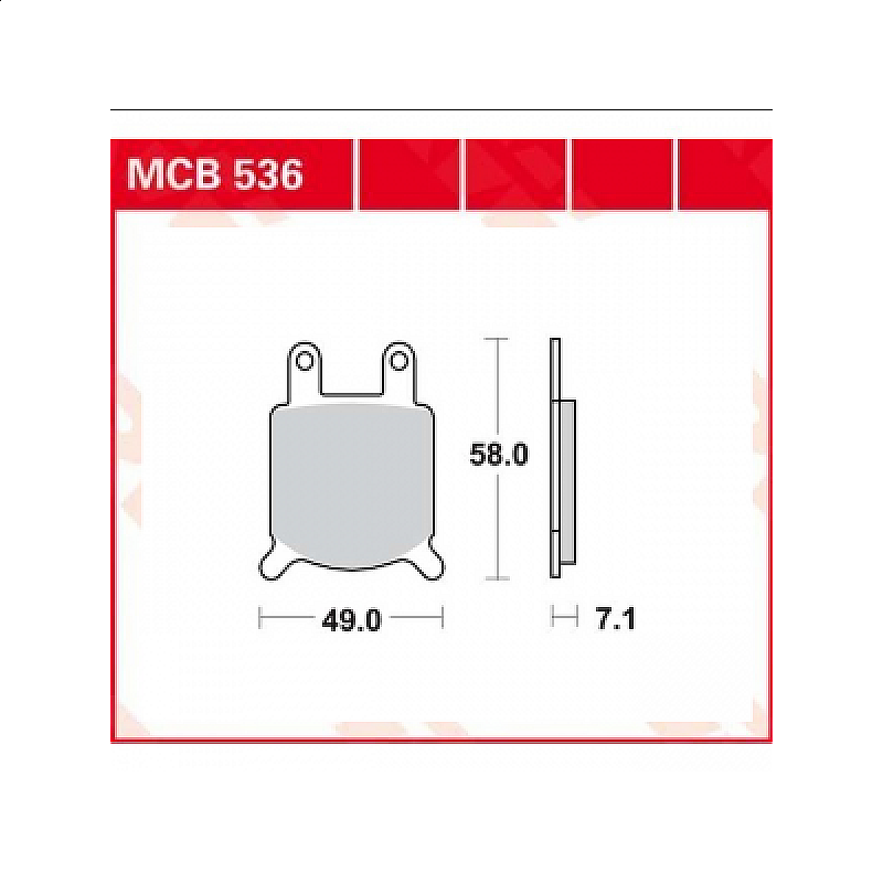 Мото накладки TRW MCB536 thumb