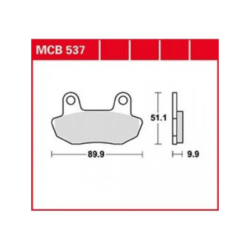 Мото накладки TRW MCB537 thumb