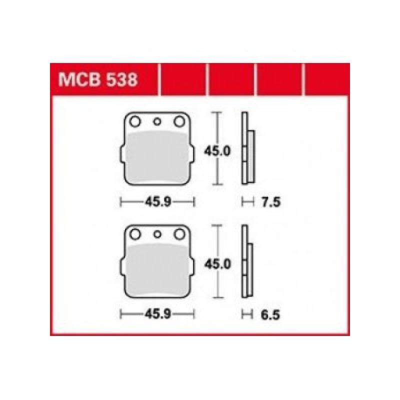 Мото накладки TRW MCB538 thumb