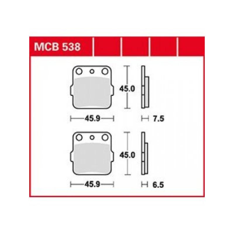 Мото накладки TRW MCB538SI thumb