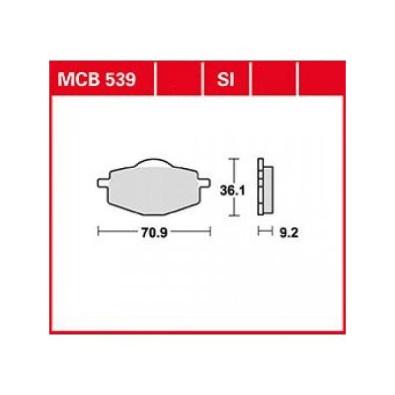 Мото накладки TRW MCB539 thumb