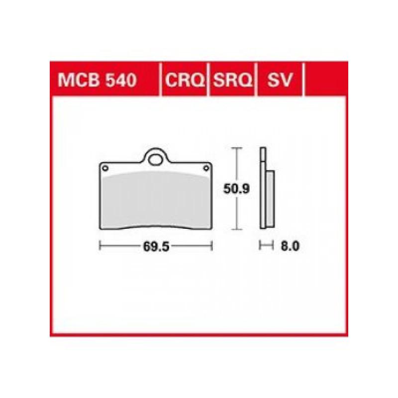 Мото накладки TRW MCB540SV thumb