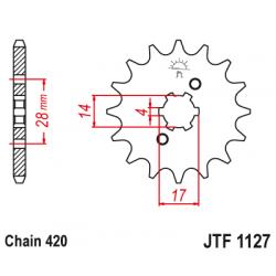 Предно зъбчато колело (пиньон) JTF1127,15
