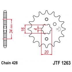 Предно зъбчато колело (пиньон) JTF1263,17