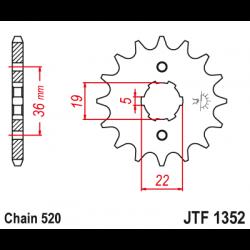 Предно зъбчато колело (пиньон) JTF1352,12