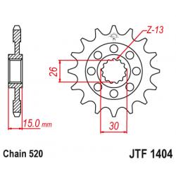 Предно зъбчато колело (пиньон) JTF1404,15