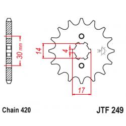 Предно зъбчато колело (пиньон) JTF249,14