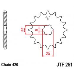 Предно зъбчато колело (пиньон) JTF251,14