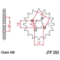 Предно зъбчато колело (пиньон) JTF253,15