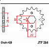 Предно зъбчато колело (пиньон) JTF264,14 thumb