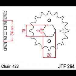Предно зъбчато колело (пиньон) JTF264,14