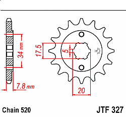 Предно зъбчато колело (пиньон) JTF327,13