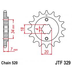 Предно зъбчато колело (пиньон) JTF329,13
