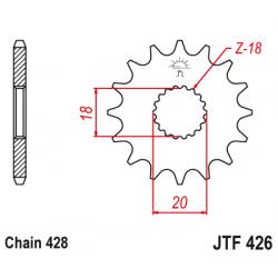 Предно зъбчато колело (пиньон) JTF426,12