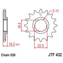 Предно зъбчато колело (пиньон) JTF432,12