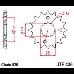 Предно зъбчато колело (пиньон) JTF436,15