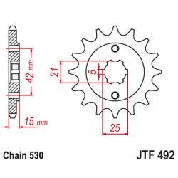 Предно зъбчато колело (пиньон) JTF492,15