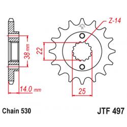 Предно зъбчато колело (пиньон) JTF497,15