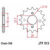 Предно зъбчато колело (пиньон) с успокоител за вибрации JTF513,18RB thumb