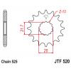 Предно зъбчато колело (пиньон) с успокоител за вибрации JTF520,15RB thumb
